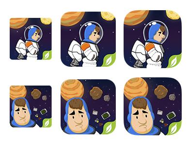 Astro push iconos