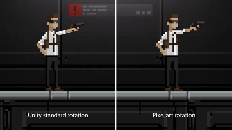 pixel art rotation example